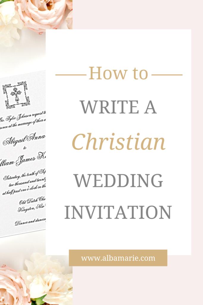How to Write a Christian Wedding Invitation